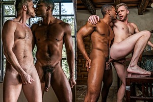 Sean Xavier Fucks Brian Bonds With His Raw Black Cock