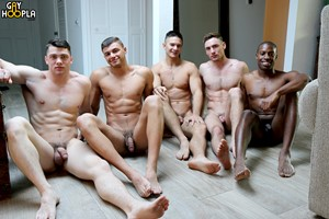 HOT Gay Orgy – Collin Simpson with Tyler, Alex, Forrest and Zach