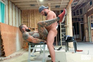Pup & Tank Fuck Raw All Over A Construction Site