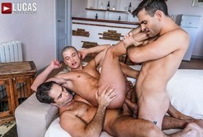 Michael Lucas And Max Arion Double-Team Ruslan Angelo